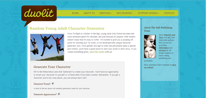 Young Adult Character Name Generator - Author Stash Author Stash