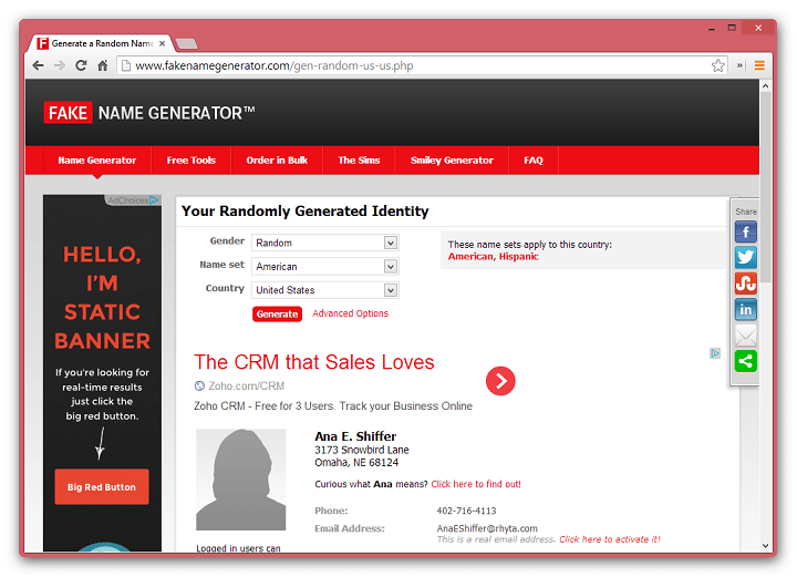 Name Fake Generator Author - Stash